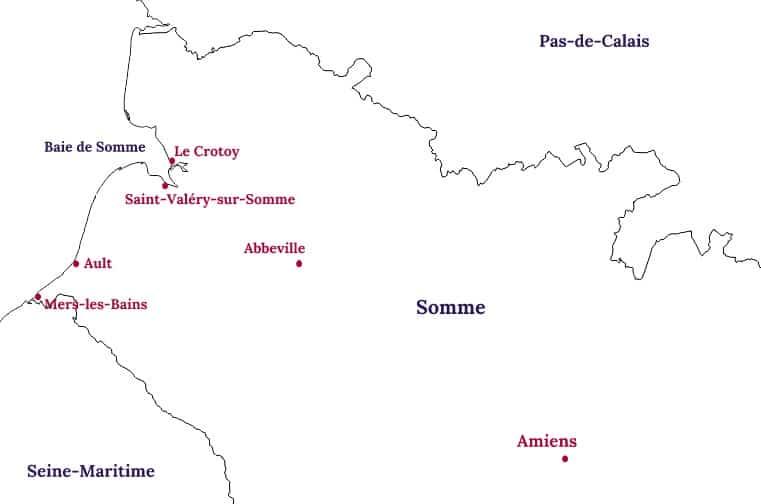 Carte de la Baie de Somme - Blog La Marinière en Voyage