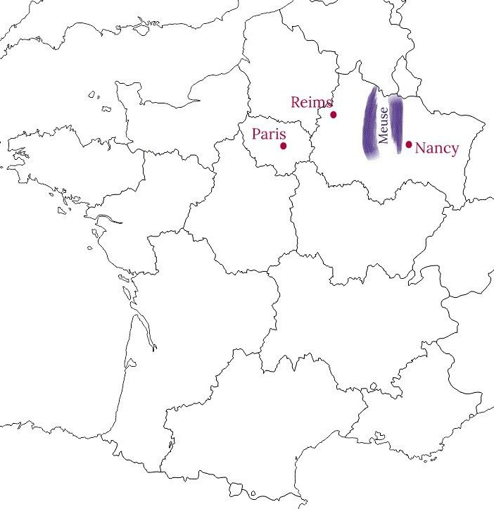 Carte de la Meuse - Blog La Marinière en Voyage